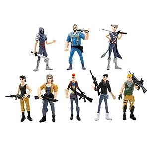 Ginkago 8pcs Fortnite decoración Figuras Juguetes Juego Personajes muñecas Regalo decoración 7