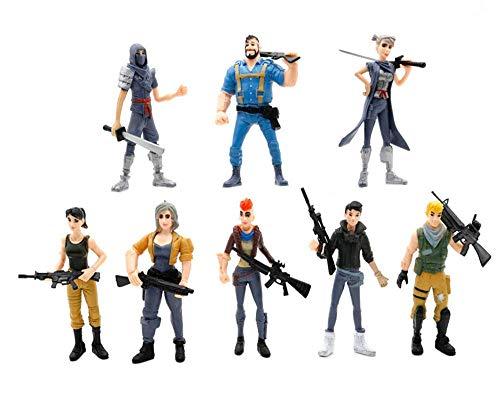 Ginkago 8pcs Fortnite decoración Figuras Juguetes Juego Personajes muñecas Regalo decoración 1
