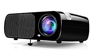 Vidéoprojecteur HD, Projecteur Home Cinéma Ogima BL20, 2600 Lumens Projecteur LCD Supporte 1080P Full HD VGA / HDMI / USB / SD / AV Entrée
