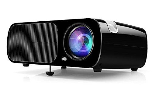 LCD Beamer Projektor, Ogima Heimkino Projektor BL20, 2600 Lumen LCD Projektor Unterstützt 1080P Full HD VGA / HDMI / USB / SD / AV Eingang,1 Jahr Garantie
