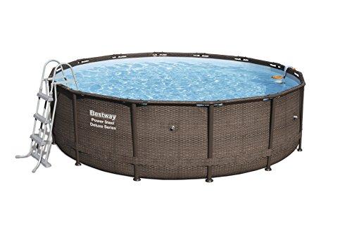 Bestway Power Steel DELUXE SERIES Pool Set 427x107 cm, Stahlrahmenpool-Set mit Filterpumpe und Zubehör