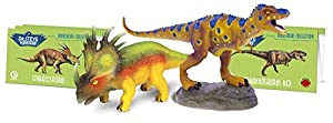 Geoworld - Tyrannosaurus Rex & Styracosaurus, Figuras articuladas (DeQUBE Trading S.L. CL1541K)