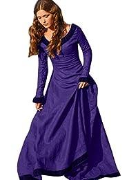 Mujer Vestido Gótico, VENMO Mujeres Vintage Vestido Medieval Traje de Cosplay Princesa Renacimiento Gótico Vestido