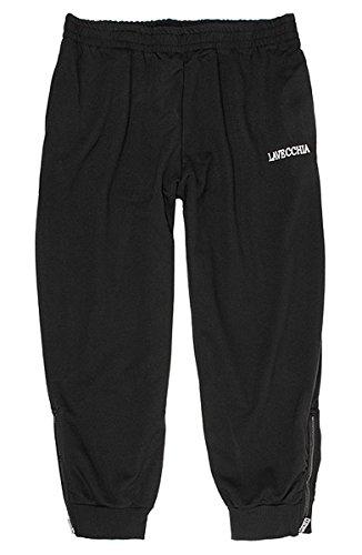 Tallas extra grandes Pantalón chándal negro con más delgado Tela de algodón de Lavecchia hasta 8XL - Negro, 7XL