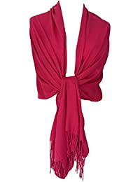 Purple Possum Pink Pashmina Cerise Wrap Ladies Fuchsia Wedding Prom Shawl Womens Oversized Scarf