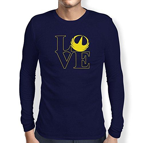 TEXLAB - Rebel Love - Herren Langarm T-Shirt Navy