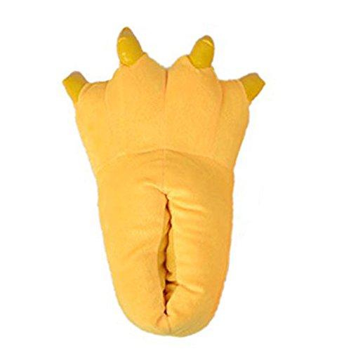 LATH.PIN - Pantofole o zampe di animale per costume, idea regalo Gelb
