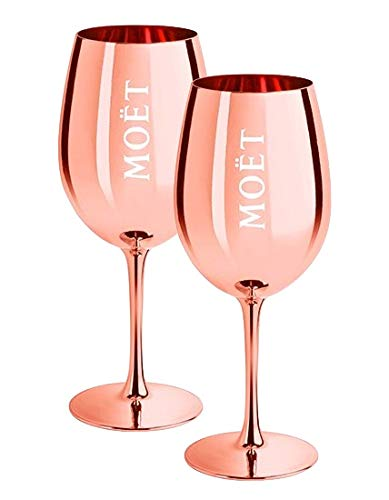 2 x Moet & Chandon Champagnerglas Rose-Gold (Limited Edition) Ibiza Imperial Pure Glas Champagner-Glas Rosegold Gläser