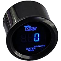 """Mintice 2"""" 52mm Negro medidor Digital de Coche luz LED Azul medidor de Temperatura del Agua Calibre Motor"""