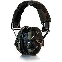 LA MSA Sordin Suprême Pro X Avec intégré LED Lampe - Sedan Protection auditive professionnelle, incl. super confortable Oreiller gel / Édition de Camo / entrée auxiliaire