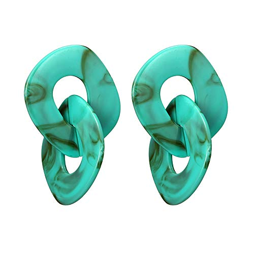 Marshall Frühling (UINGKID Damen Ohrringe Mode Ohrstecker Vintage Frauen Persönlichkeit Geometrie Wort Legierung Frühling Mehrschichtige)