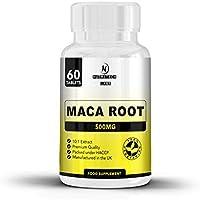 Maca Andina Suplemento: tabletas de raíz de maca de alta resistencia 1500 mg por dosis