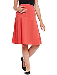 Oxolloxo Red Elasticated Maternity Skirt