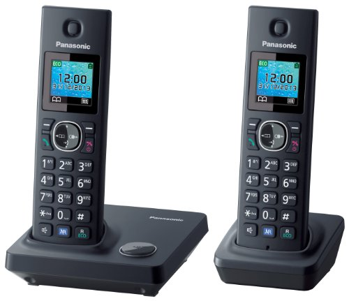 Panasonic KX-TG7852SPB - teléfono inalßmbrico con dos terminales, Negro