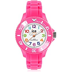 Ice-Mini Children's Size Ice-Watch White Dial Colourful Numbers Pink MN.PK.M.S