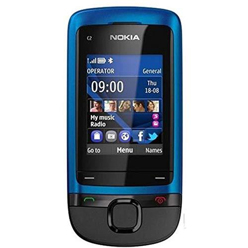 Tellaboull for Nokia C2-05 Scorrevole Telefono Cellulare Bluetooth MP3 Player 0.3MP Fotocamera da 3,5 mm Jack Sbloccato Telefono rinnovato Supporto Carta di TF