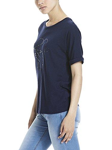 Bench Damen T-Shirt Graphic Tee Blau (Maritime Blue BL193)