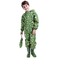 Traje de Lluvia para niños Impermeable Pantalones Chubasquero Poncho Impermeable