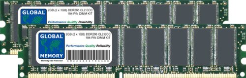 266 Mhz Kit (GLOBAL MEMORY 2 GB (2 x 1 GB) DDR 266 MHz PC2100 184-PIN ECC DIMM (UDIMM) Arbeitsspeicher Kit für Servers/WORKSTATIONS/MAINBOARDS)