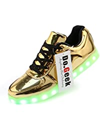 90ebfc058dee DoGeek - Led Shoes Light Up Trainers for Boys Girls - 7 Colors Light Up  Trainers Luminous Sneakers- USB Charge -Best Gifts (Choose…