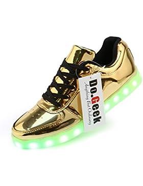 DoGeek Unisex/Uomo Scarpe LED Luminosi Sneakers Scarpe con Le Luci Accendono Scarpe Uomo Sportive