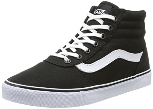 Vans MILTON, Damen Sneakers, Schwarz ((Canvas)Blk/Wht 187), 40.5 EU (Blk Canvas-sneakers)