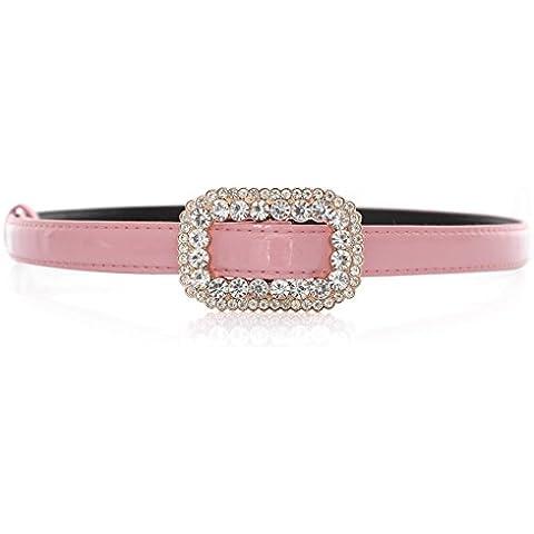 Señora cinturones de Strass cuadrada/Cinturón de dulce comodín/Cinturón de cuero de patente