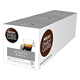 NESCAFÉ Dolce Gusto Ristretto Barista Extra Crema Coffee Pods, 16 Capsules (48 Servings, Pack of 3, Total 48 Capsules)