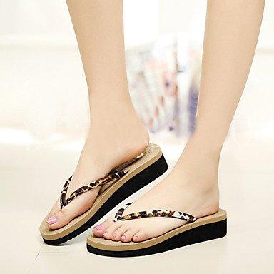 Donne'sPVC scarpe tacco piatto infradito pantofole blu all'aperto / marrone US7.5 / EU38 / UK5.5 / CN38