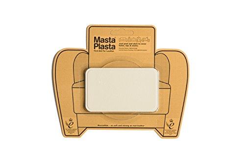 MastaPlasta Reparaturflicken für Leder, elfenbeinfarben Größe/Design wählbar Erste-Hilfe für Sofas, Autositze, Handtaschen, Jacken etc. - Design-leder-jacke