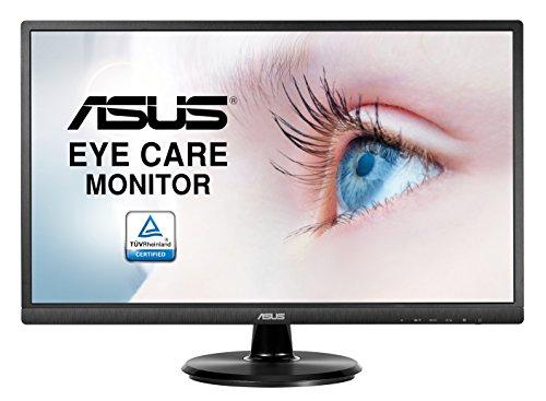 Asus VA249HE 60,5 cm (23,8 Zoll) Monitor (VGA, HDMI, 5ms Reaktionszeit, Blaulichtfilter) schwarz