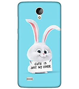 Takkloo cute is just my cover blue background,cute animal, big ears) Printed Designer Back Case Cover for Vivo Y21L