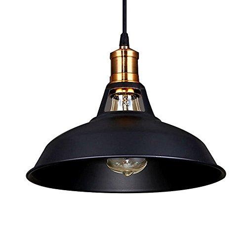 Signstek E27 Industrial höhenverstellbar Industrielampe Hängeleuchte mit Metallschirm (Dome Shade) -