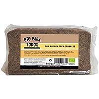 Bio para todos Pan Alemán Tres Cereales Bio - 12 Paquetes de 500 gr - Total: 6000 gr