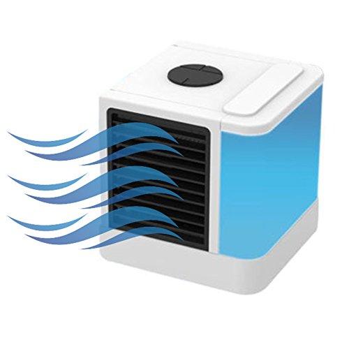 Condizionatore Portatile Raffreddatore D'aria Evaporativo Mini 3 in 1 Dispositivo di Raffreddamento 1 Colore LED Dell'aria Umidificatore Purificatore Ventilatore ad Aria Condizionata