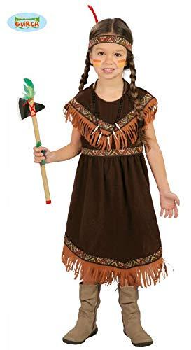 Guirca Indiana Pellerossa Kostüm für Mädchen, Farbe: Braun, -