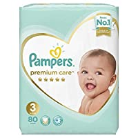 Pampers Premium Care Midi Diapers, Size 3, 1 Jumbo Pack - 5-9 Kg, 80 Count