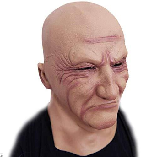 SAILORMJY Maske Halloween, Cosplay Maske Halloween Cosplay Kostüm Maske Realistischer Mann Latex Maske Verkleidung Halloween Kostüm Ziegenbart - Halloween Bart Kostüm