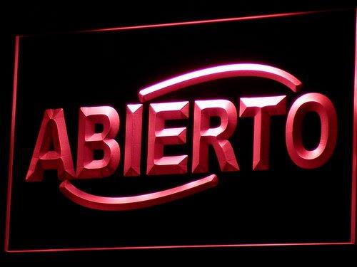 Cartel Luminoso ADV PRO i535-r ABIERTO Food Cafe Restaurant