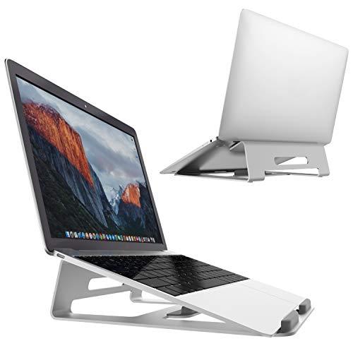 Massway Laptop Ständer, 3-in-1 Multifunktions-Laptopständer aus Aluminiumlegierung integriertes Design, ergonomischer Laptop Stand Perfekt für MacBook/iPad, Notebook, Tablet und Smartphone (Silber)