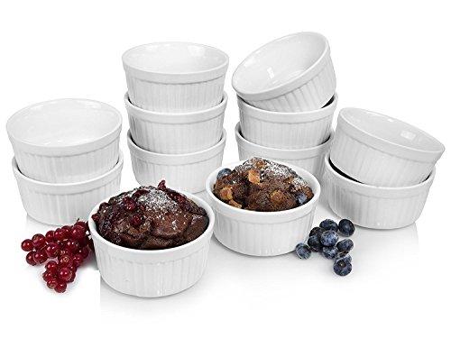 Sänger Chanteur Getgastro Lot de 12 – Diamètre 10 cm – Idéal pour muffins, cupcakes, crème brûlée Four ou comme Coupelles Porcelaine – Best chaleur jusqu'à 250 °C