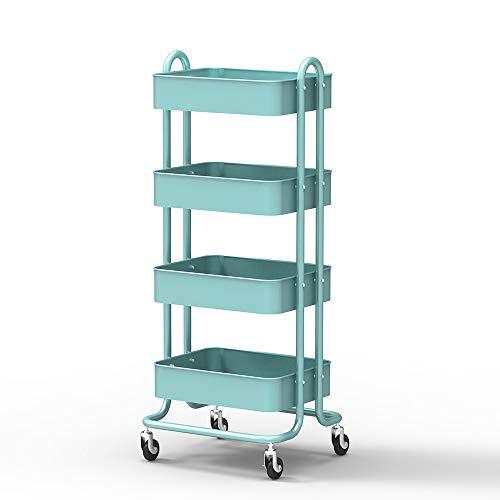 Soges 4-Tier Carretilla Servir manija rodante Storage