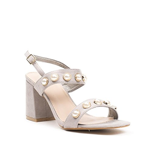 Ideal Shoes, Damen Sandalen Grau