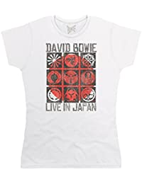 Official David Bowie Live In Japan CamisetaOfficial David Bowie Live In Japan Camiseta, Para mujer
