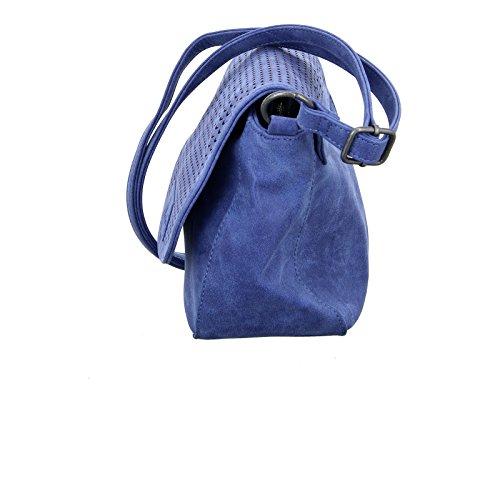 Fritzi aus Preußen Freira Vintage Borsa a tracolla 24 cm Blue