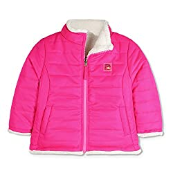 Cherry Crumble Reversible Sherpa Jacket For Girls
