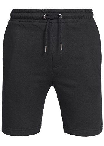 Brave Soul Herren sweat Short, Bermuda Short, Fleece Short mit Kordelzug, schwarz, Gr:L (Fleece Sweat Shorts)