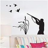 Adesivo murale citazioni art vinile murale fai da te rimovibile caccia agli uccelli decalcomania home decor bambini nursery bagno cucina camera bambini nursery regalo 59 * 77cm