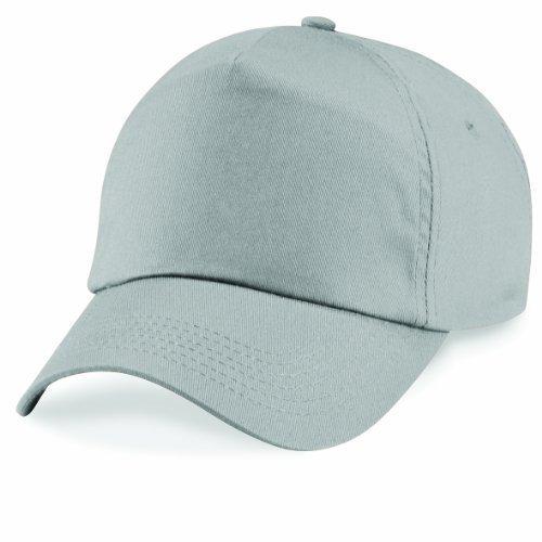 Cappello da baseball Berretto 5 Panel berretto Cerniera Chiusura in velcro Taglia Unisex molte Colori - Grigio Chiaro, Unisex