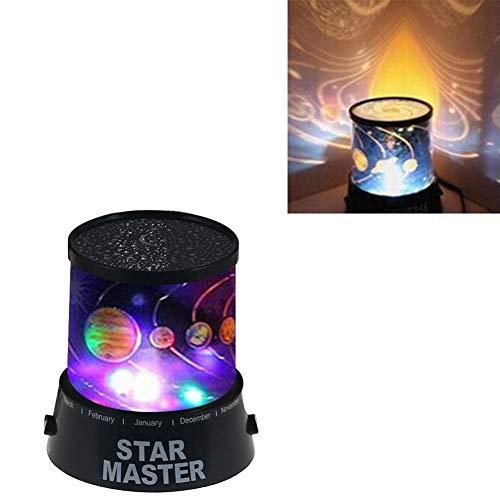 Sguan-wu Starry Sky Bunte LED Projektor Nachtlicht Schlafzimmer Nachttischlampe Dekorative Lampe - Mehrfarbenlicht